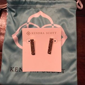 Kendra Scott Levi Bar Stud - Rose Gold Drusy